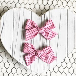 Other - Valentine's Pigtail Hair Bow Set